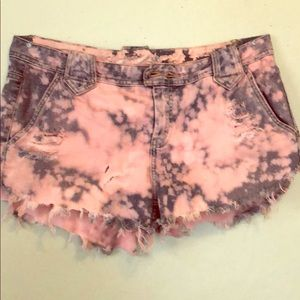 Tie die banana republic shorts